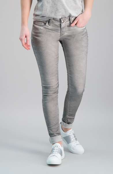 Nele Skinny grau oil washed